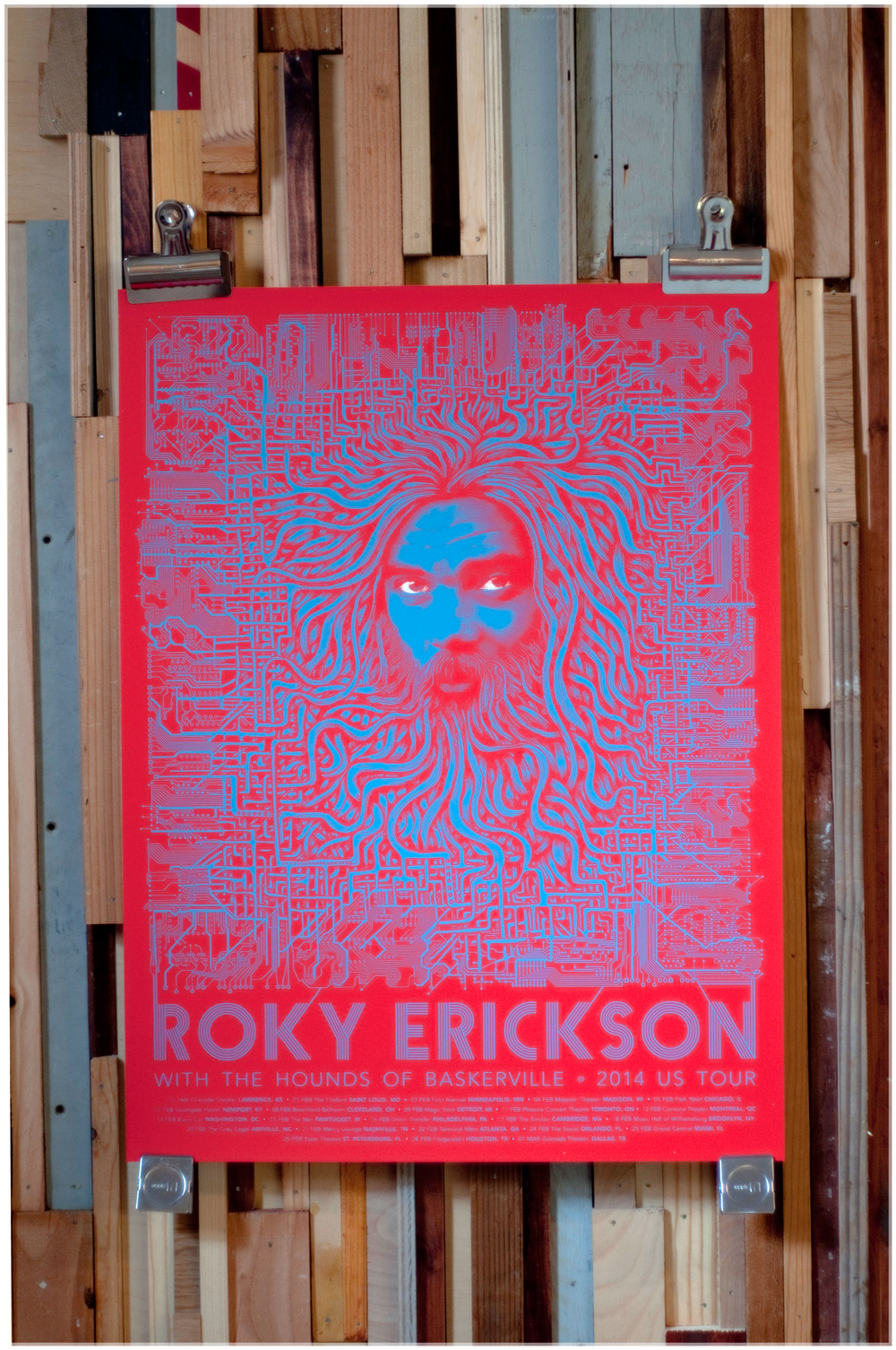 Roky Erickson, Mishka Westell, Screen Print, Bearded Lady, Bearded Lady Screen Prints, Screen Print Austin TX, Flatstock